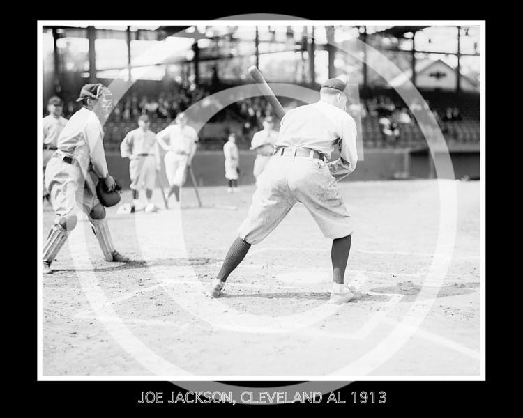 Joe Jackson, Cleveland Naps AL, at National Park, Washington D.C. 1913.