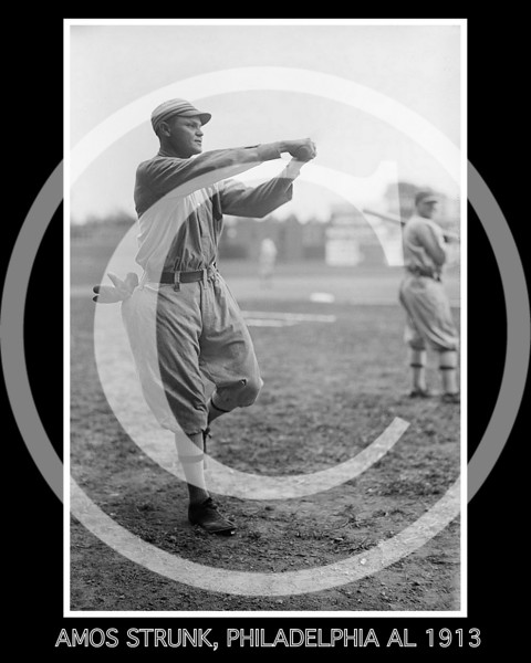 Amos Aaron Strunk,  Philadelphia Athletics AL, 1913.