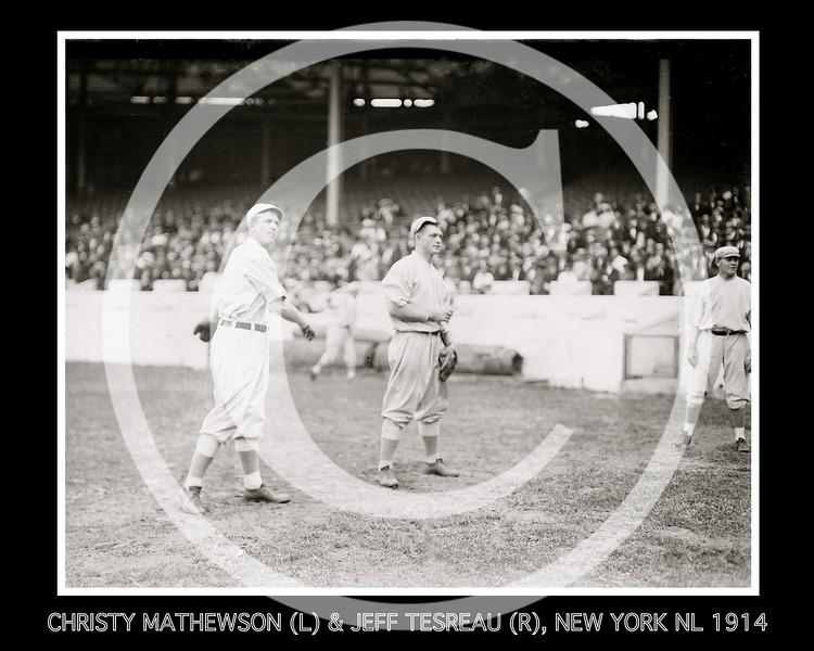 Christy Mathewson & Jeff Tesreau, New York NL, at Polo Grounds 1914