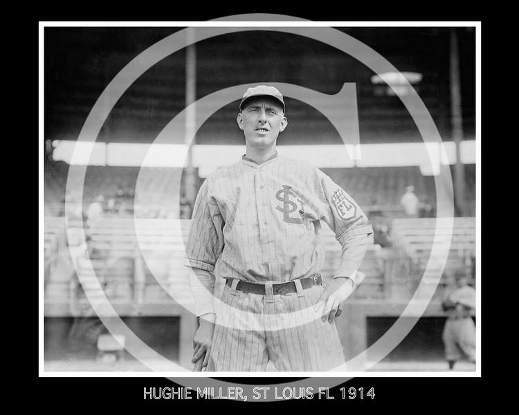 Hughie Miller, St. Louis Terriers, Federal League 1914.