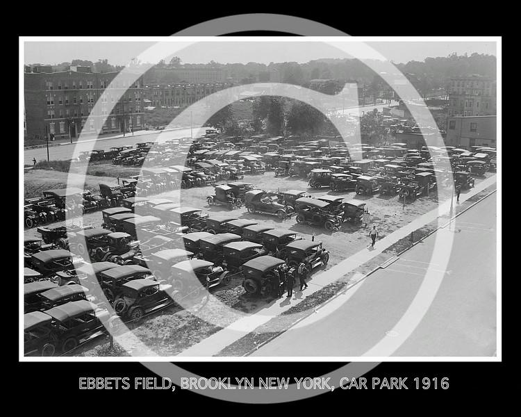 Auto's parked at Ebbets Field NY 1916.