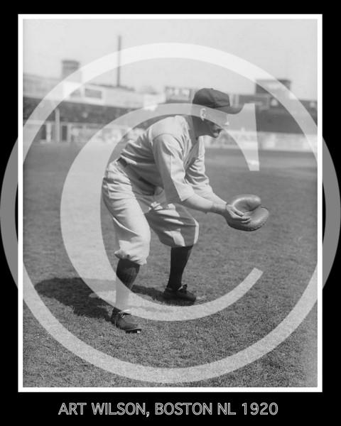 Art Wilson, Boston Braves NL  1920.