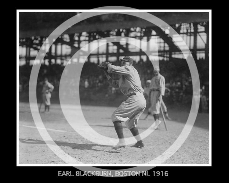 Earl Blackburn, Boston Red Sox NL, 1916.