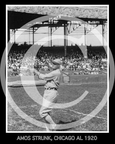 Amos Aaron Strunk,  Chicago White Sox AL, 1920.