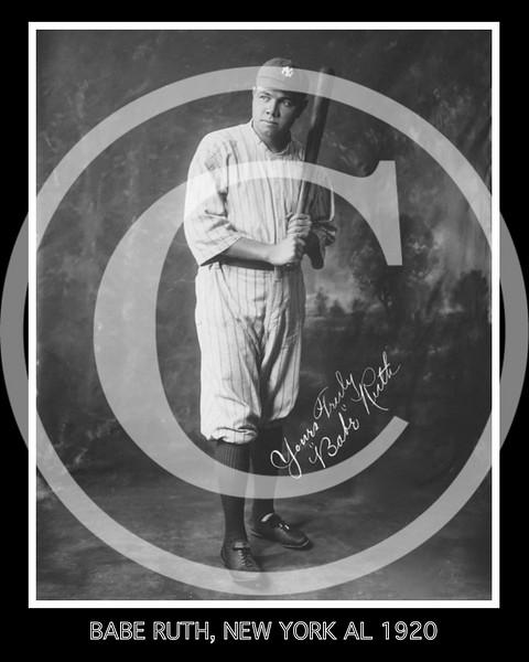 Babe Ruth, New York Yankees AL, 1920.