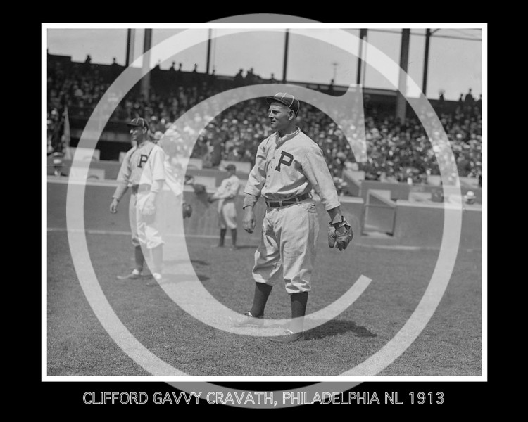 Clifford Gavvy Cravath, Philadelphia Phillies NL, 1913.