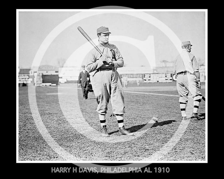 Harry Davis, Philadelphia Athletics  AL, 1910.