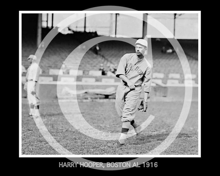 Harry Hooper, Boston Red Sox  AL, 1916.