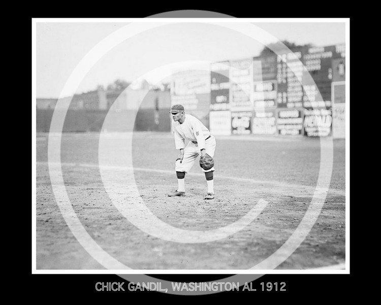 CHICK GANDIL, WASHINGTON AL 1912