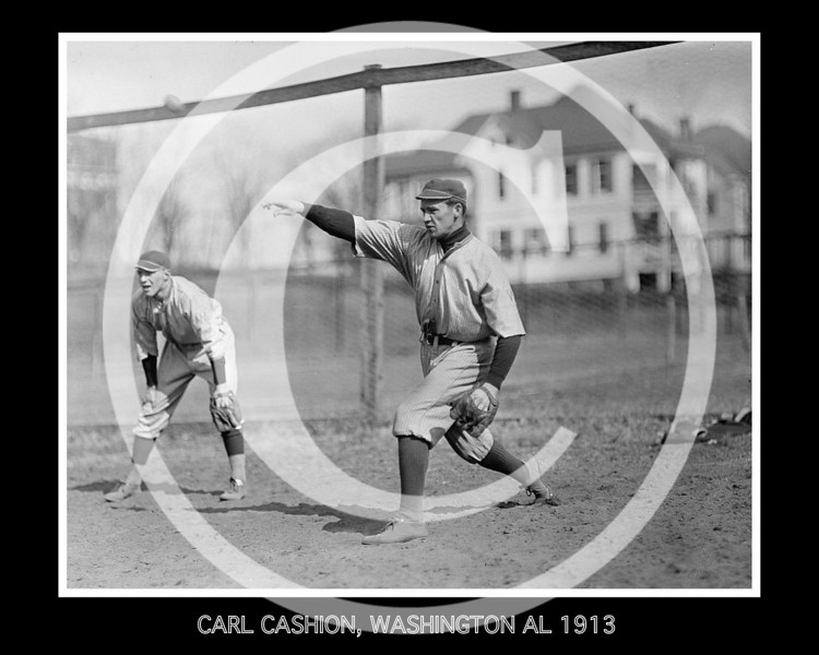 Carl Cashion, Washington Senators AL, 1913.