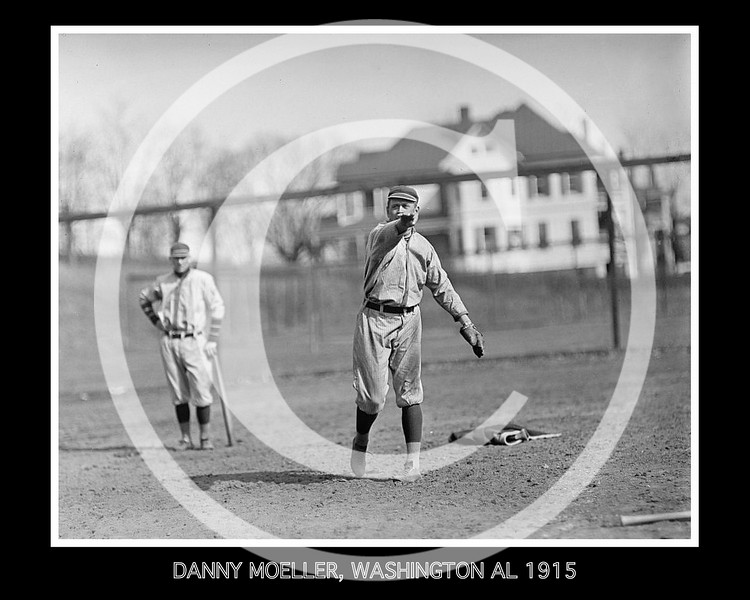 Danny Moeller, Washington Senators AL, 1915.