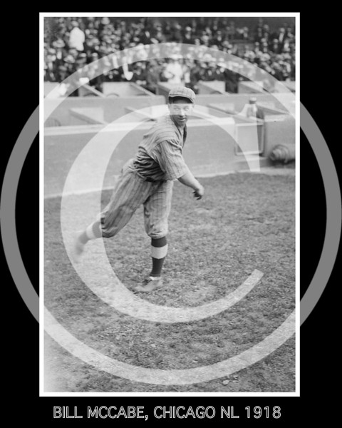 Bill McCabe, Chicago Cubs NL, 1918.