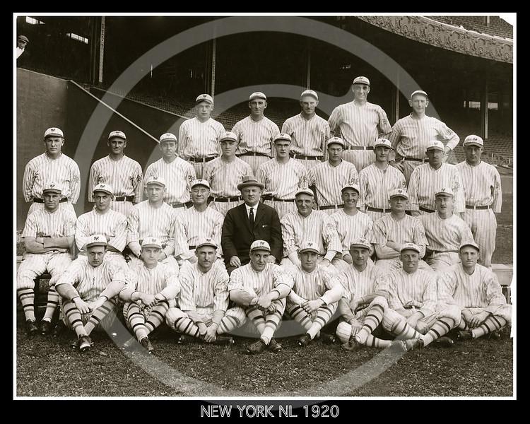 New York Giants NL, 1920.