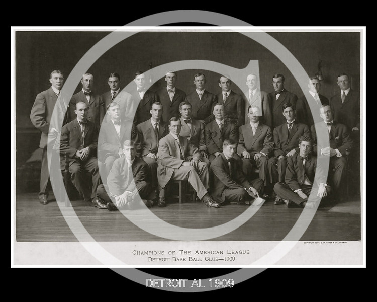 Detroit Tigers AL, 1909.