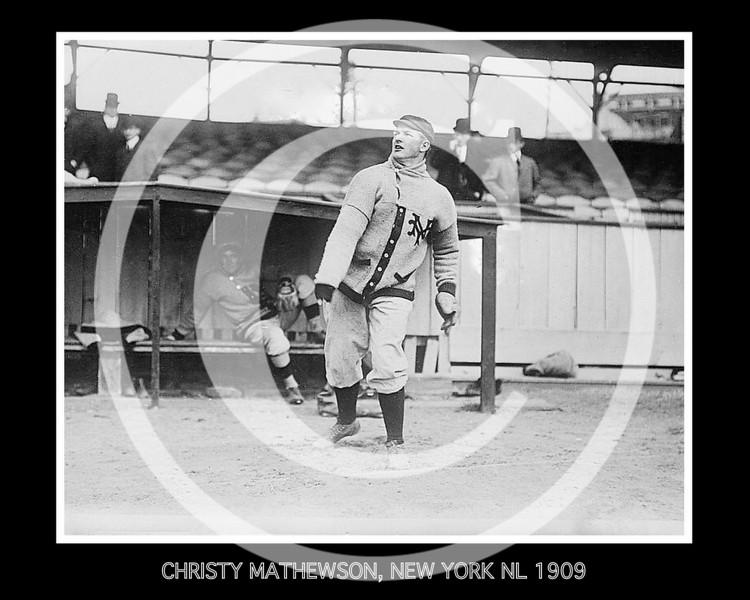 Christy Mathewson, New York Giants NL, 1909.