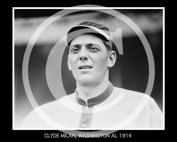 Clyde Milan, Washington Senators AL, 1914.