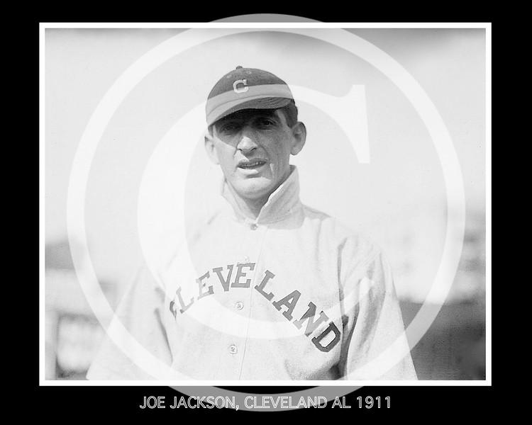 Joe Jackson, Cleveland Naps AL, 1911.