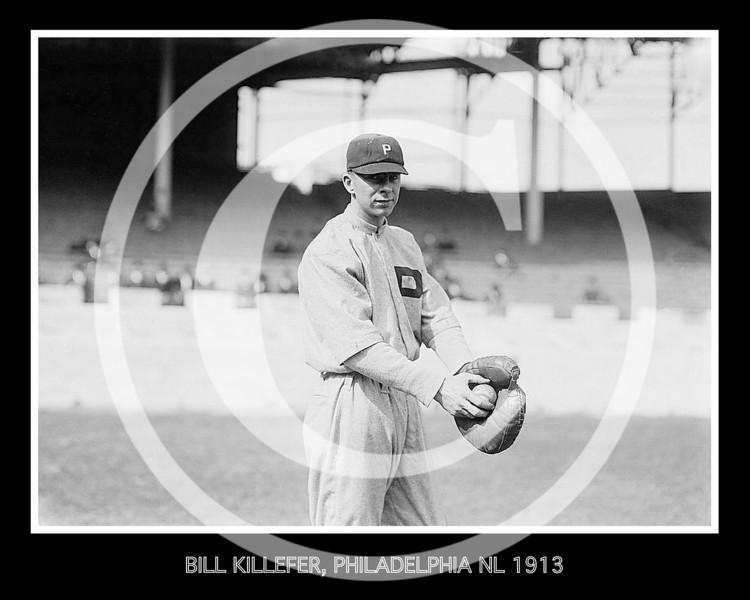 Bill Killefer, Philadelphia Phillies NL, at Polo Grounds NY,  1913.