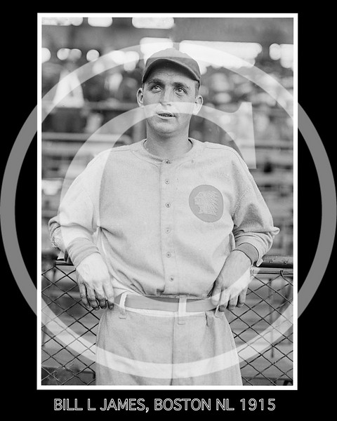 Bill Lawrence James, Boston Braves NL, 1915.
