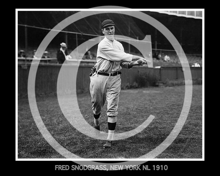 Fred Snodgrass, New York Giants NL, 1910.