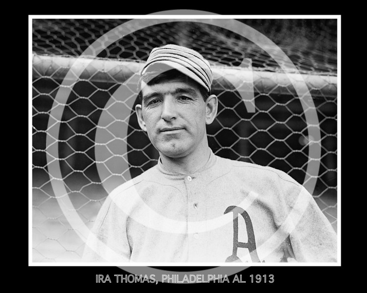 Ira Thomas, Philadelphia Athletics AL 1913.
