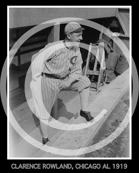 Clarence Pants Rowland, manager, Chicago White Sox AL, 1919.
