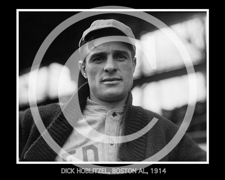 Dick Hoblitzel, Boston Red Sox AL, 1914.