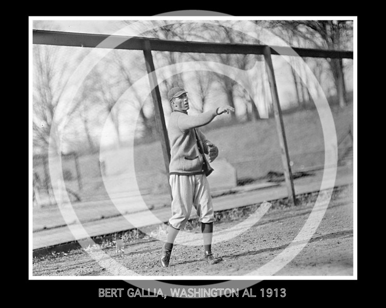 Bert Gallia, Washington Senators AL, 1913.