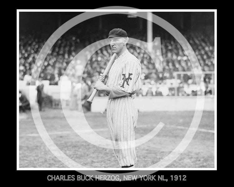 Charles Buck Herzog, New York Giants NL, 1912.