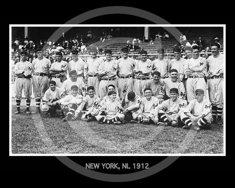 New York Giants NL, at the Polo Grounds, New York, September  1912.