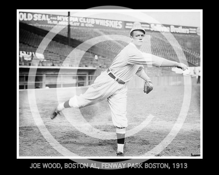 Smoky Joe Wood, Boston Red Sox AL at Fenway Park, Boston, 1913.