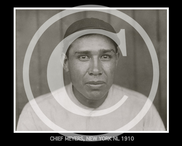 Chief (John Tortes) Meyers, catcher for the New York Giants 1910