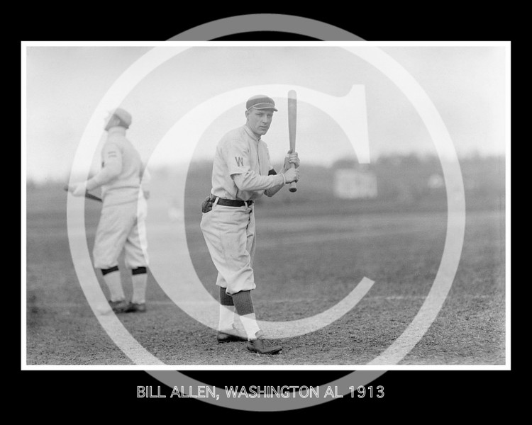 Bill Allen, Washington Senators AL, at University of Virginia, Charlottesville 1913.