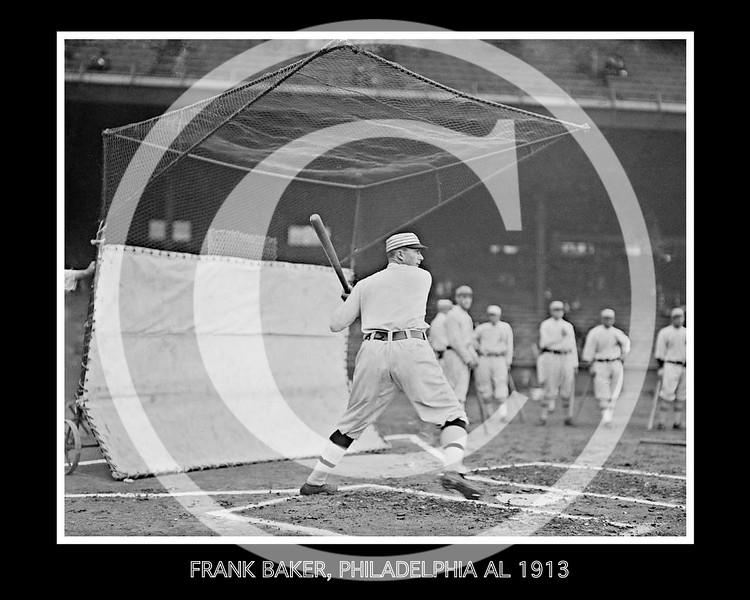 Frank Home Run Baker, Philadelphia Athletics AL, 1913.
