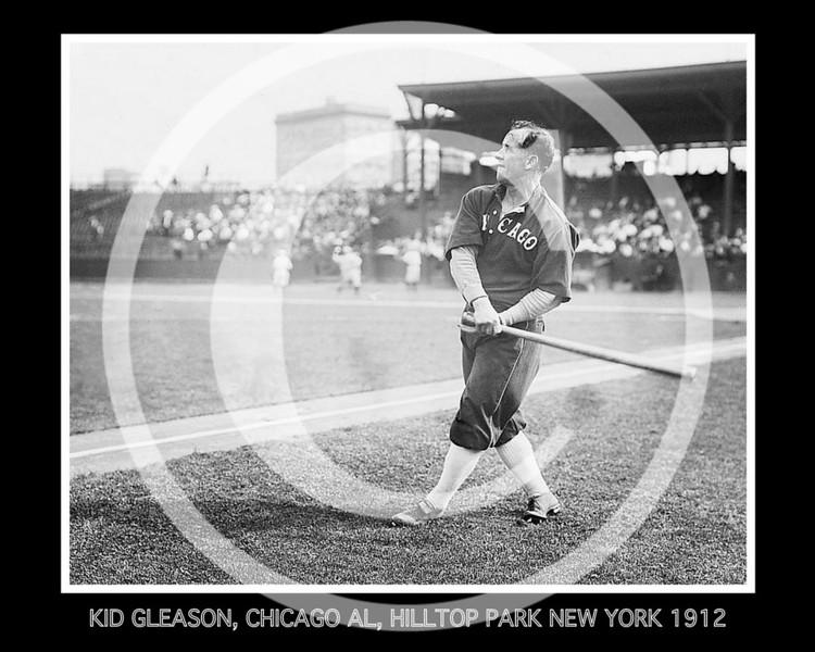 "William Jethro ""Kid"" Gleason, Chicago White Sox AL, at Hilltop Park NY, 1912."