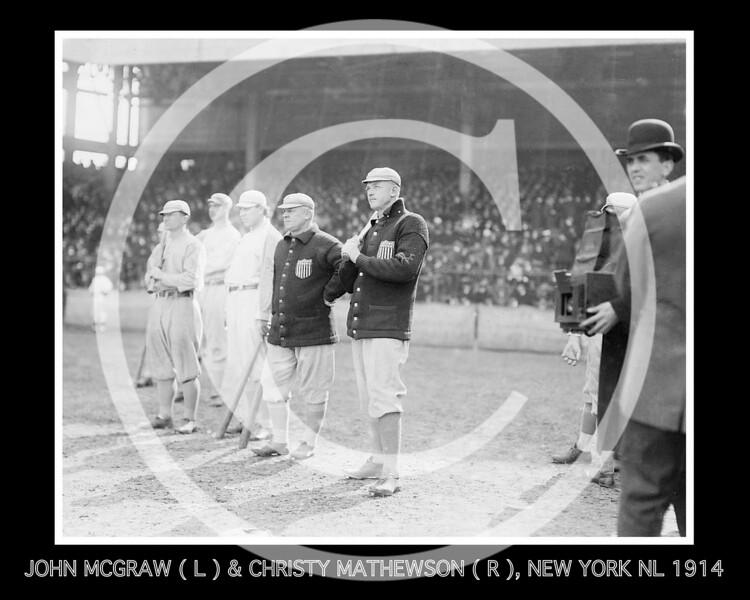 Christy Mathewson - John McGraw & Christy Mathewson, New York Giants NL, 1914.