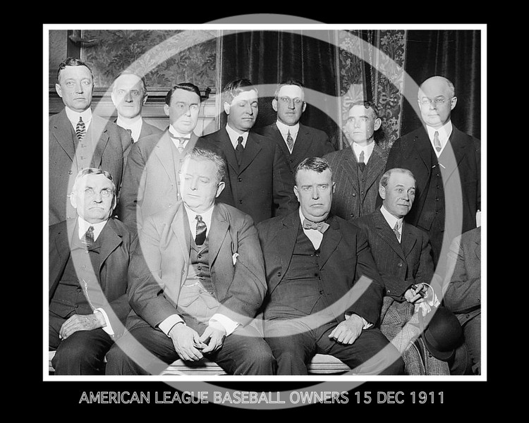 American League Baseball Owners 15 Dec 1911.