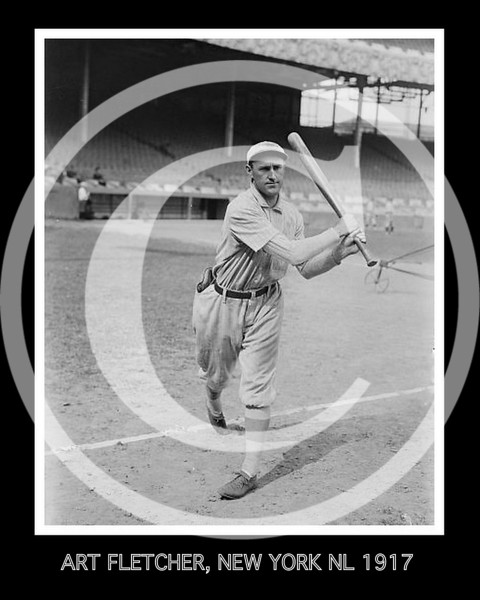 Art Fletcher, New York Giants NL, 1917.