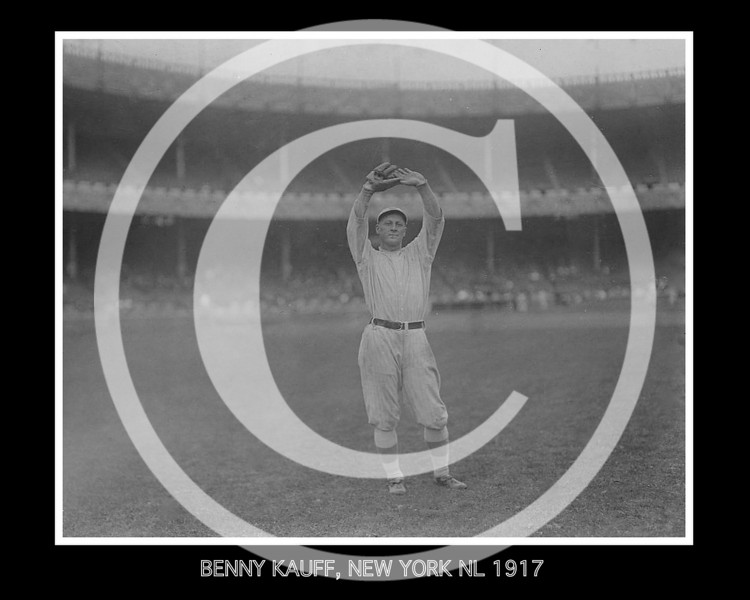 Benjamin Michael Kauff, New York Giants NL,  1917.