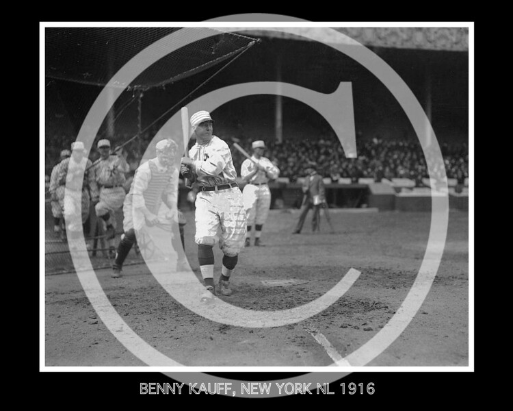 Benjamin Michael Kauff,  New York Giants NL,  1916.