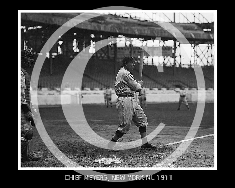 Chief (John Tortes) Meyers, New York Giants NL, 1911.