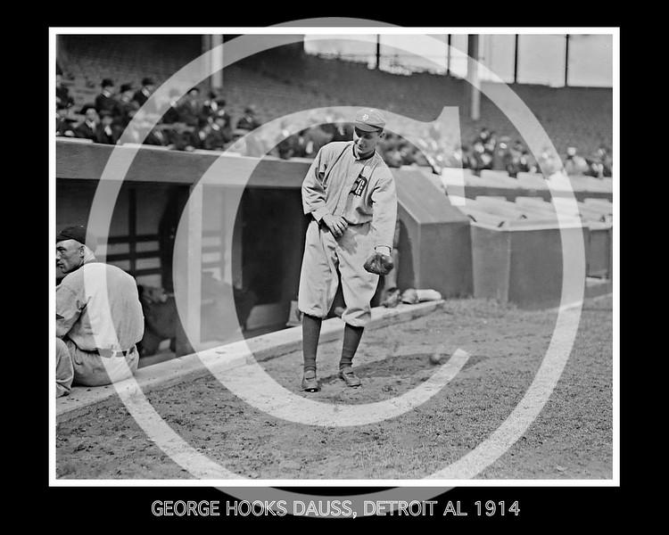 George Hooks Dauss, Detroit Tigers AL, 1914.