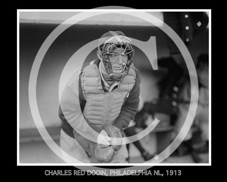 Charles Red Dooin, Philadelphia Phillies NL, 1913.