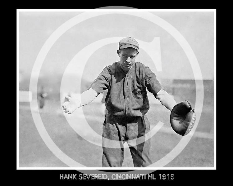 Hank Severeid, Cincinnati Reds NL, 1913.