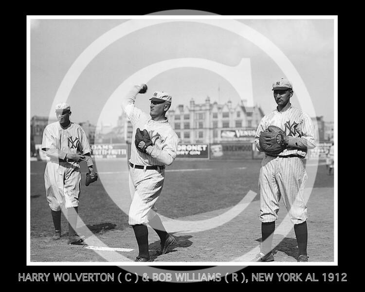 Harry Wolverton & Bob E. Williams, New York Highlanders AL, 1912.