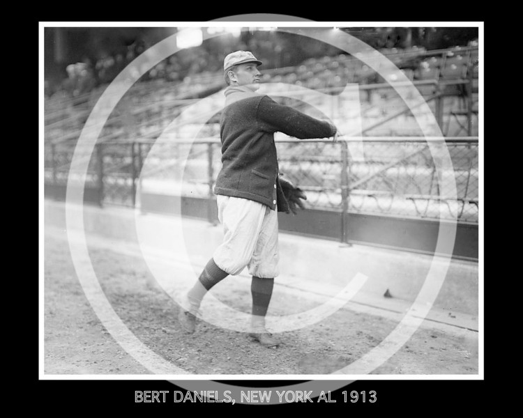 Bert Daniels, New York Yankees AL, 1913.