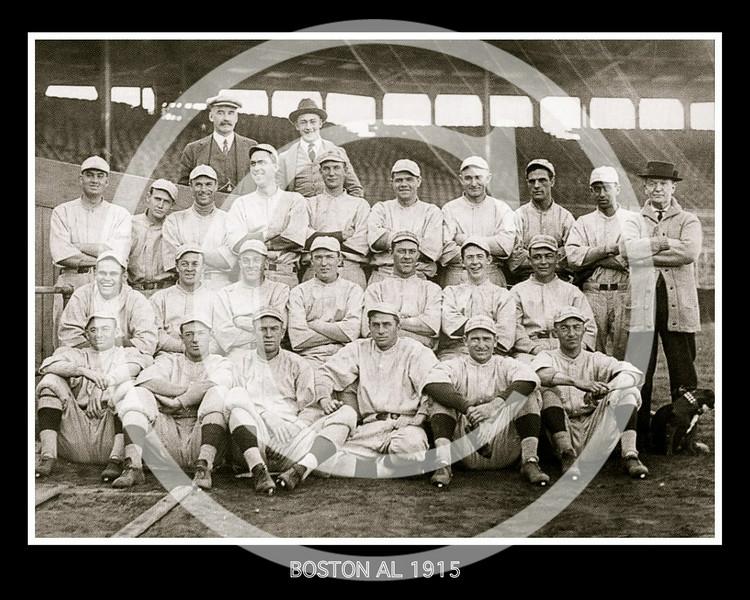 Boston Red Sox AL, 1915. Babe Ruth back row.