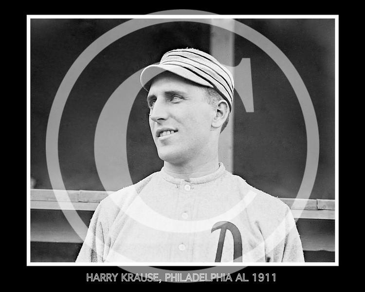 Harry Krause, Philadelphia Athletics AL, 1911.