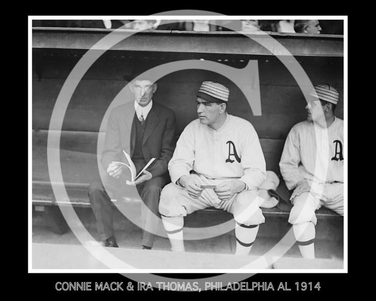Connie Mack, manager  and  Ira Thomas, Philadelphia Athletics AL, 1914.
