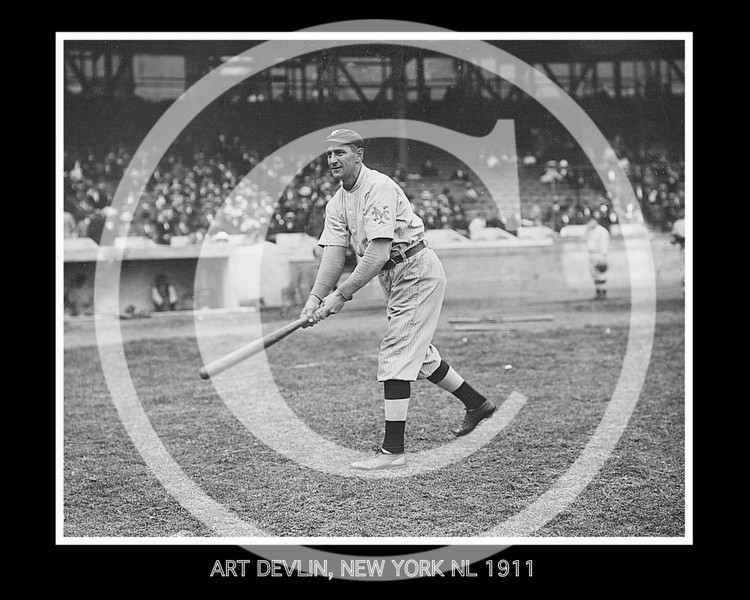 Art Devlin, New York Giants N,L 1911.